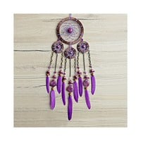 Dream Catcher, Dreamcatcher, Bohemian Dream Catcher, Boho Wall Hanging, Boho Wall Decor, Purple Dreamcatcher, Gypsy Dreamcatcher, Boho Chic • DreamCatcherLT's Shop