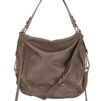 round bottom faux leather satchel