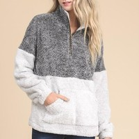 Two Tone Pullover Sweater