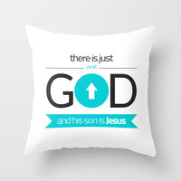 One God Throw Pillow by cooledition   Society6