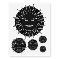 Smiling Sun Halo Temporary Tattoos