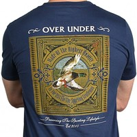 The Antique Mallard Tee in Navy by Over Under Clothing
