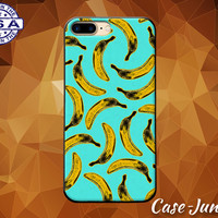 Banana Blue Pattern Pop Art Fruit Pattern Tumblr Case iPhone 5 5s 5c iPhone 6 and 6+ and iPhone 6s iPhone 6s Plus iPhone SE iPhone 7 +