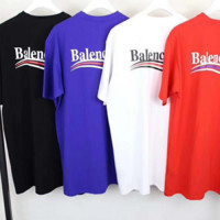 Balenciaga Tide brand loose men's and women's Cola striped T-shirt F0449-1