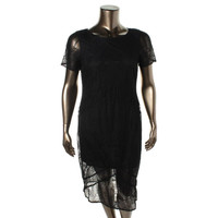 Impulse Womens Lace Mid-Calf Party Dress