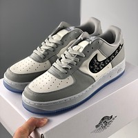 Air Force 1 Dior Hollowed-out breathable mesh thick soles with fashionable inside elevating shoes-1