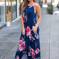 In The Name Of Love Maxi Dress, Navy