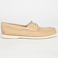 Sperry Top-Sider Metallic Tipped Authentic Original Womens Boat Shoes Desert/Gold  In Sizes
