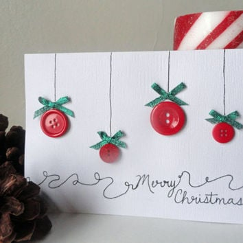 Merry Christmas Cards , Button Cards , Boxed Christmas Cards , Card Sets