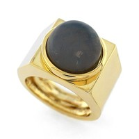Women's Vince Camuto 'Orbital' Domed Geometric Ring - Gold/ Light Grey Opal Crackle