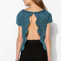 Project Social T Scallop Open-Back Tee	 - Urban Outfitters