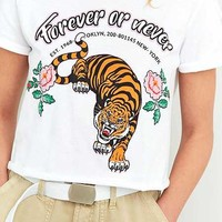 BDG Forever Or Never Tigers Cropped T-shirt - Urban Outfitters