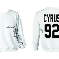 Miley Cyrus Tattoo Shirt Unisex Sweatshirt