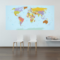 Current World Map wall decal