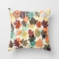 Autumn Leaves 2 Throw Pillow by Fimbis
