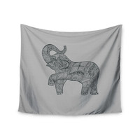 """Belinda Gillies """"Elephant"""" Wall Tapestry, 51"""" x 60"""" - Outlet Item"""