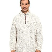 True Grit Frosty Tipped 1/4 Zip Pullover- Putty