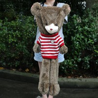60cm to 180cm giant Hedgehogs bear skin toy plush Teddy Bear bearskin plush fabric plush toy with sweater Free shipping