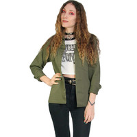 Vintage Green Military Jacket - Green Army Jacket - Oversized - Army Jacket - Grunge - USA Army Jacket - 90s 80s Vintage - Size X Small