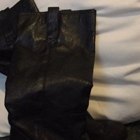 Women's Black Leather Boots Size 8.5