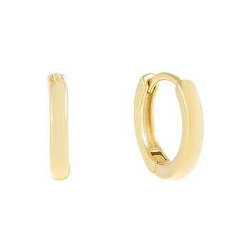 Plain Ring Huggie Earring