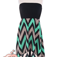 Hi-Lo ZigZag Dress