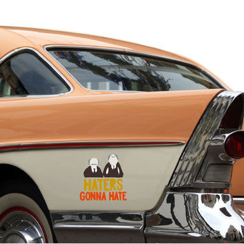 """The Muppets """"Haters Gonna Hate"""" Statler and Waldorf Vinyl Decal"""