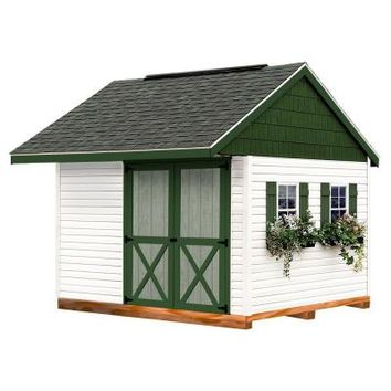 Best Barns Clarion 10 ft. x 10 ft. Prepped for Vinyl Storage Shed Kit with Floor and Runners-clarion_1010df at The Home Depot