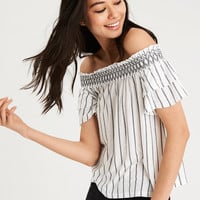 AE SOFT & SEXY OFF-THE-SHOULDER T-SHIRT, White
