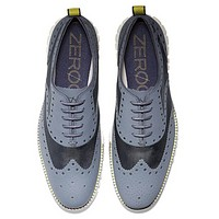Cole Haan Mens ZEROGRAND No Stitch Brogue Lace-up Oxfords, Various Sizes