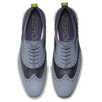 Cole Haan Mens ZEROGRAND No Stitch Brogue Lace-up Oxfords, Various Sizes,
