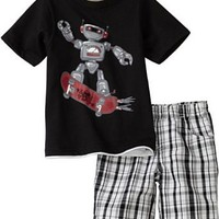 Kids Headquarters Boys 2-7 Robot Short Sleeve Shirt