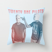Twenty One Pilots Throw Pillow by Hands in the Sky