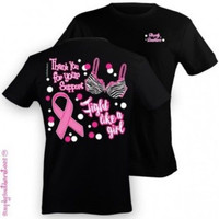 Simply Southern Funny Pink Ribbon Cancer Girlie Bright T Shirt