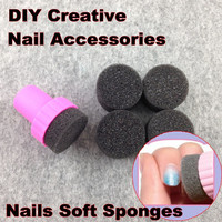 Nail Art Tools, Nails Soft Sponges For Color Fade Manicure, DIY Creative Nail Accessories Supply + Free Shipping (NR - WS1)