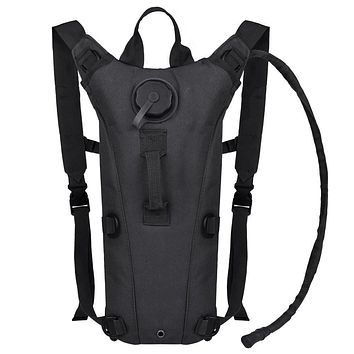 Bormart 3L 3 Liter 100 Ounce Hydration Pack Bladder Water Bag Pouch Hiking Climbing Hunting Running Survival Outdoor Backpack Black