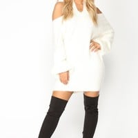 Fuzzy Luv Sweater - Ivory