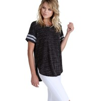 Charcoal Athletic Tee