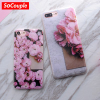 Phone Cases For iphone 5 5s SE 6plus 6s 6 7 7plus Case Scrub Marble Stone Image Painted Soft TPU Silicone Case Cover