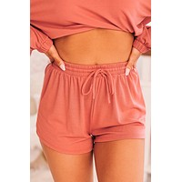 At Your Leisure Knit Shorts (Clay)
