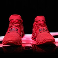 2020 New Outdoor Men Running for Men Jogging Walking Sports Shoes High-Quality Lace-Up Athietic Breathable Blade Sneakers