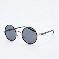 Metal Edge Round Sunglasses in Black - Urban Outfitters
