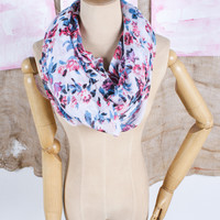 Spring Fling Floral Infinity Scarf