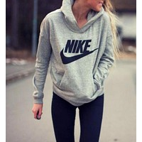 "FREE SHIPPING ""NIKE"" Women Fashion Hooded Top Pullover Sweater Sweatshirt"