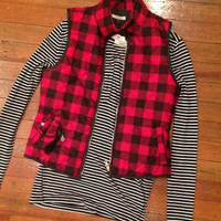 Checkmate Vest | Red