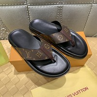 LV Popular Summer Women's Flats Men Slipper Sandals Shoes
