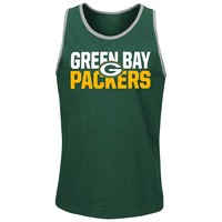 Majestic Green Bay Packers Long Bomb Tank Top - Big & Tall, Size: