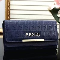 FENDI Women Fashion Leather Envelope Wallet Purse