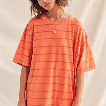 Urban Renewal Recycled Overdyed Striped Boyfriend Tee | Urban Outfitters