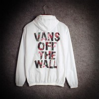 Vans of the wall Fashion Print Cardigan Windbreaker Jacket Coat
